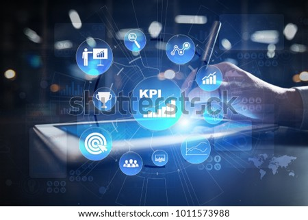 KPI. Key performance indicator. Business and technology concept.