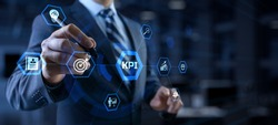 KPI Key performance indicator business and technology concept on screen.