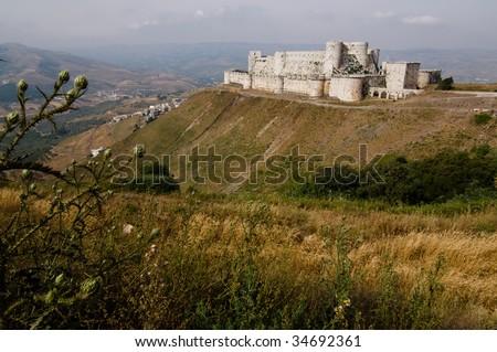 Krak des Chevaliers, crusader castle, Syria.