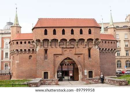 Kraków barbican is a barbican â?? a fortified outpost once connected to the city walls.