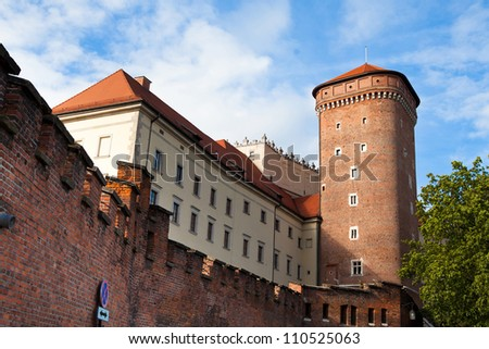 KRAKOW, POLAND - JULY 18: Wawel Castle, May 18, 2012 in Krakow. in Wawel Castle was buried President Lech Kaczynski and his wife Maria, who was tragically killed Apr 2010 in a plane crash in Smolensk.