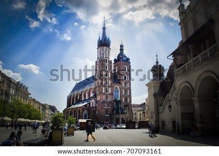 Krakow's cathedral. #707093161