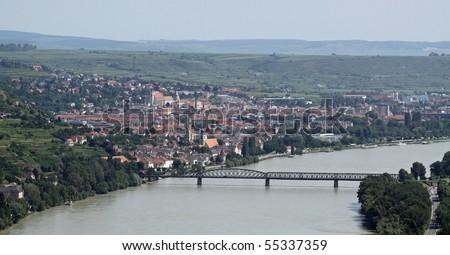 Krems at river Danube (Wachau, Lower Austria) - Panorama