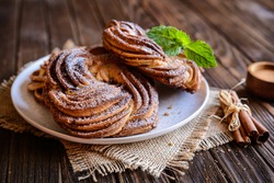 Kringle - traditional Estonian cinnamon braid bread