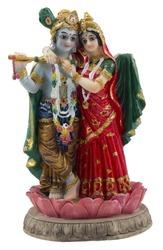 Krishna and Radha. Indian statue