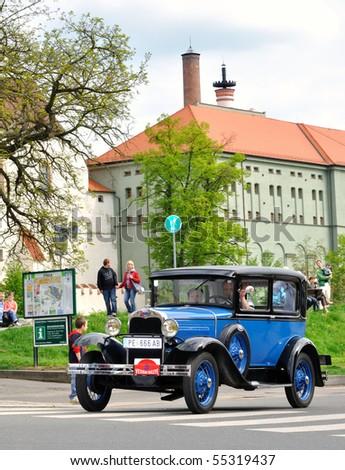 KRIVONOSKA - MAY 8: 1930 FORD A on Car Competition during 40th Czech Veteran Rallye. May 8, 2010 in Krivonoska, Czech Republic.