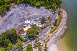 Krom Luang Chumphon Khet Udomsak Shrine Sai Ree Beach Prince Chumphon Park drone aerial ariel uav high view Chumphon Thailand