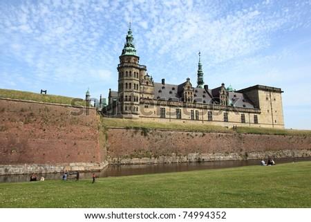 Kronborg Castle, unesco world heritage and immortalised as Elsinore in Shakespeare's Hamlet, near Copenhagen in Denmark