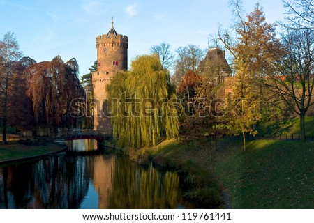 Kronenburgerpark, Nijmegen, The Netherlands - stock photo
