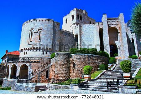 Kruje Skanderbeg. Castle complex in Kruja, Albania