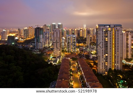 Kuala Lumpur City at night - stock photo