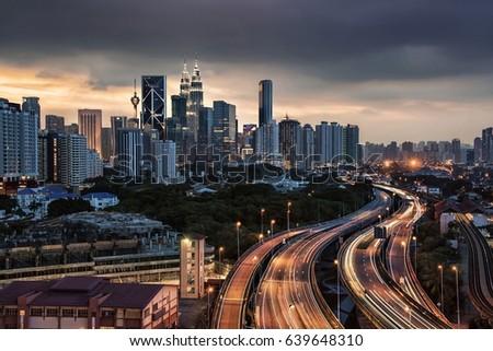 Kuala Lumpur city in Malaysia #639648310