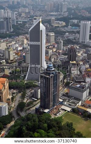 Kuala Lumpur Cityscape - aerial view, Malaysia
