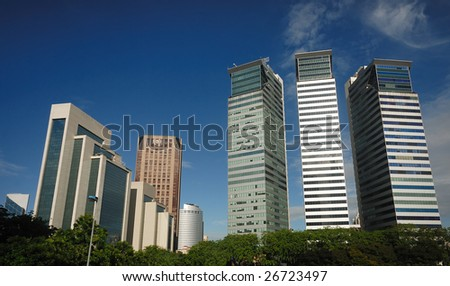 Kuala Lumpur Cityscape when fine weather - stock photo