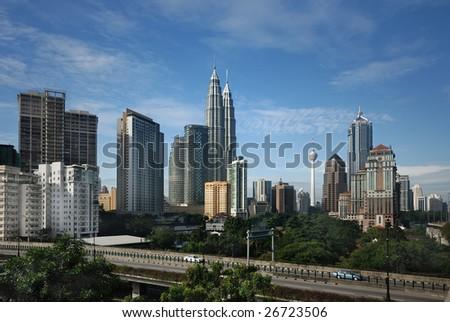 Kuala Lumpur Cityscape with twin tower