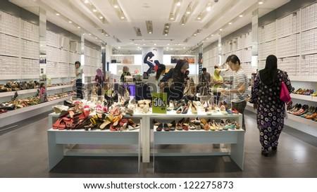 KUALA LUMPUR DEC 19 Shoe Stores in Jaya Jusco Wangsa Maju Kuala Lumpur made sales during the festive Christmas day in Kuala Lumpur Malaysia on Dec 19 2012