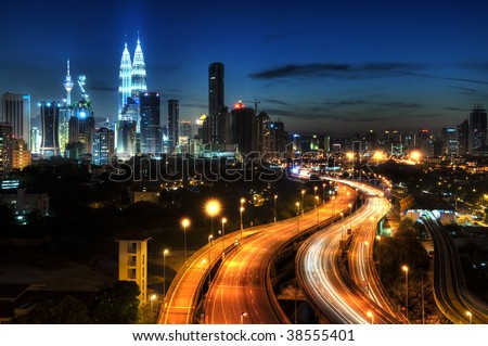 Kuala Lumpur is the capital city of Malaysia. - stock photo