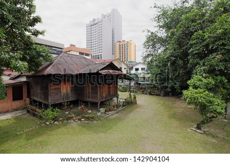 Kuala Lumpur June 16 A Vintage Traditional Malay Timber
