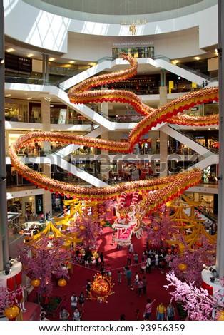 Kuala lumpur malaysia jan 27 pavillion shopping mall is decorated