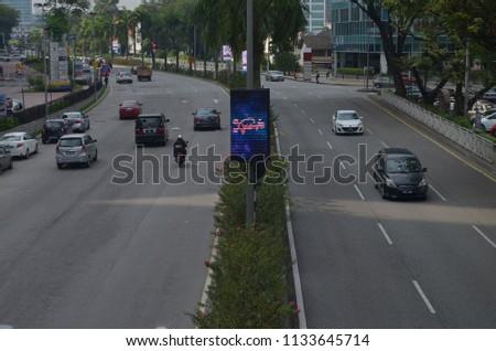 Kuala Lumpur, Malaysia - July 13, 2018 : The morning day traffic situation at SS 14 Petaling Jaya Malaysia #1133645714