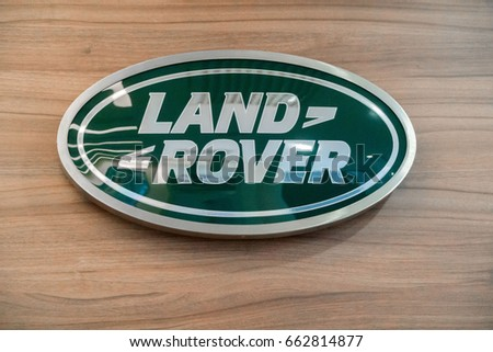 KUALA LUMPUR, MALAYSIA - JUNE 17, 2017: Land Rover logo. Land Rover is a car brand that specialises in four-wheel-drive vehicles, owned by British multinational car manufacturer Jaguar Land Rover