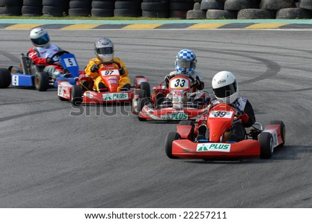 Kuala Lumpur, Malaysia - June 1st 2008 : participants in the Asian Rotax Max Challenge, Round 3, 2008