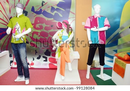 KUALA LUMPUR, MALAYSIA - MARCH 30: A model displays creation by Craft Malaysia  during AMAED Kraf fashion show at Kuala Lumpur Craft Complex on March 30, 2012  in Kuala Lumpur, Malaysia
