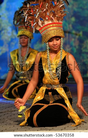 KUALA LUMPUR, MALAYSIA - MAY 21 : Participants perform a dance during the rehearsal of Colours of Malaysia Festival May 21, 2010 in Kuala Lumpur Malaysia.