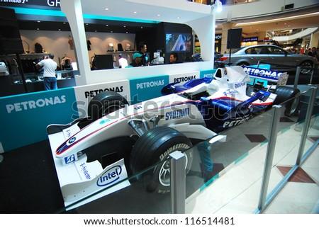KUALA LUMPUR - MARCH 30: MERCEDES GP PETRONAS F1 display at SURIA KLCC on March 30, 2009 in Kuala Lumpur, Malaysia. SURIA KLCC is the largest shopping destination in Malaysia. #116514481