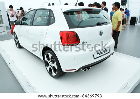 KUALA LUMPUR - SEPT 10: Rear view of VW POLO GTI at the Volkswagen Das Auto Show 2011 on SEPTEMBER 10, 2011 in Kuala Lumpur, Malaysia. This event is a promotion for latest Volkswagen models
