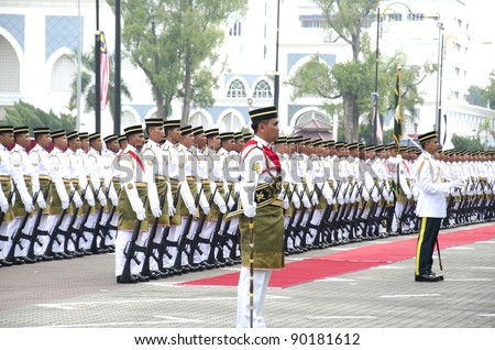 KUANTAN, MALAYSIA-SEP 16: Malaysia Defense Forces participate in National Day and Malaysia Day parade, celebrating 54th anniversary of independence on September 16, 2011 at Kuantan, Pahang, Malaysia.