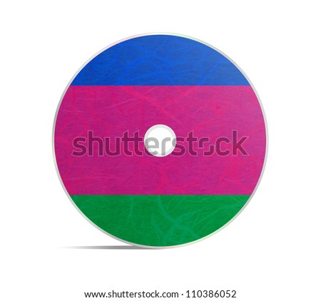 Kuban Peoples Republic flag DVD. Mulberry paper on white background.