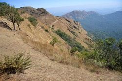Kudajadri Hills in Karnataka India, it is a mountain peak with dense forests in the Western Ghats in South India