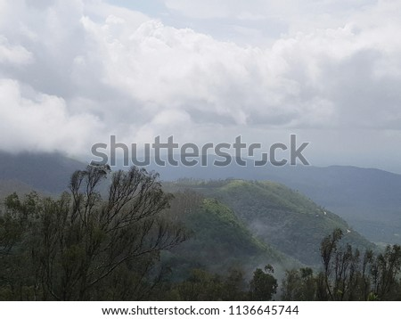 Kudremukha National Park. It is a mountain range and name of a peak located in Chikkamagaluru district, in Karnataka, India.