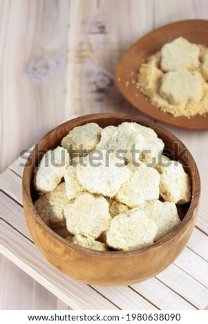 Kue kering or kukis semolina nestum or semolina cookies is biscuits made from semolina flour, commonly serve in Eid al Fitr. Сток-фото ©