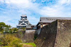 Kumamoto Castle, one of Japan's three most famous castles in summer
