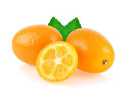 kumquat,cumquat fruit isolated on white background