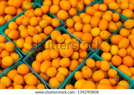 Kumquats in baskets