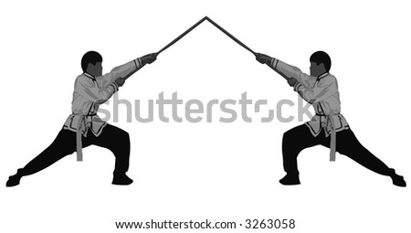 Kung Fu Master with stick