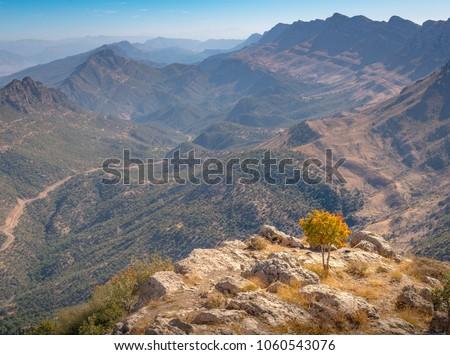 Kurdistan Iraq nature, Erbil, Duhok and Suleimaniya landscape scenic views. Beautiful mountains of Kurdistan in Iraq. Dohuk.