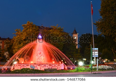 Kutahya, Turkey - The Vase monument in the city center