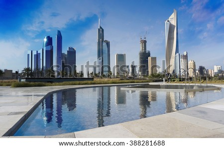 Kuwait city  skyscraper