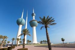 Kuwait Towers and Palms