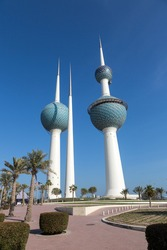 Kuwait Towers with park