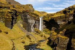 Kvernufoss waterfall near Skóga, Iceland