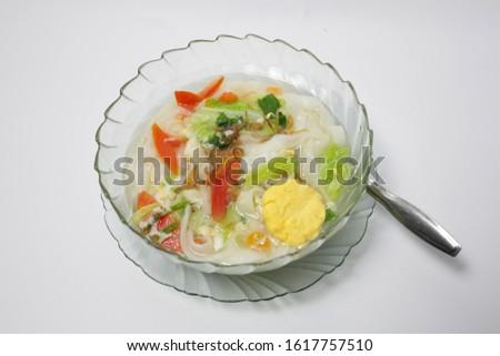 Kwetiau Kuah is Chinese Indonesian cuisine. Asian cuisine menu. It tastes very good.