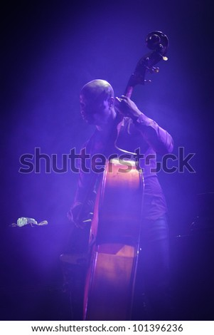 KYIV, UKRAINE - APR 03: American jazz bassist Richard Goods accompanied Chris Botti during his solo concert on April 03, 2012 in Kyiv, Ukraine