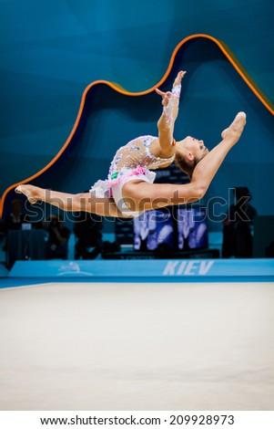KYIV, UKRAINE - AUGUST 30, 2013: Margarita Mamun of Russia performs during 32nd Rhythmic Gymnastics World Championship (Individual All-�Around competition)