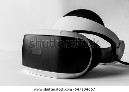 KYIV, UKRAINE - May 25, 2017: VR for PlayStation 4. Computer games, console games, virtual reality, . Instagram filter, illustrative editorial