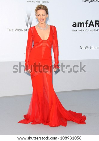 Kylie Minogue arriving for AmfAR's Cinema Against Aids gala 2012 during the 65th annual Cannes Film Festival Cannes, France. 24/05/2012 Picture by: Henry Harris / Featureflash